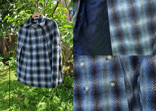 Francesca's Blue Plaid Cape--for inspiration!
