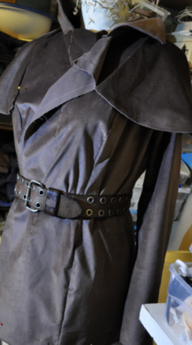 Cape Coat Almost Done