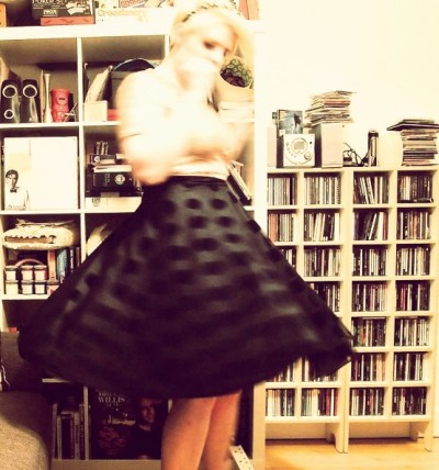 Twirling around in a circle skirt