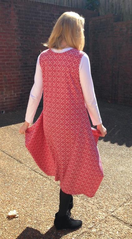 Back of Vogue 1297 dress
