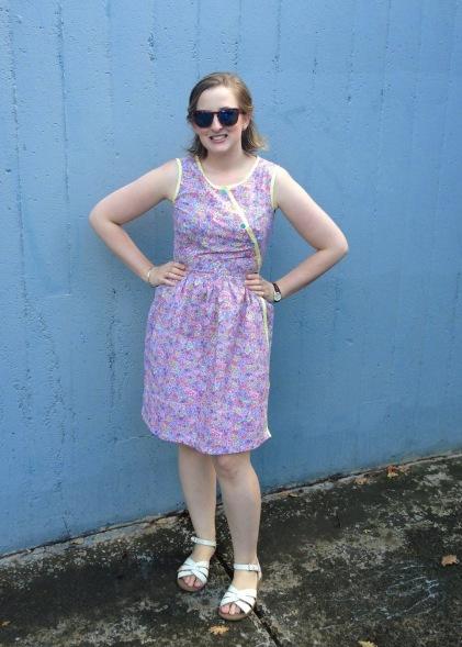 Peppermint wrap dress