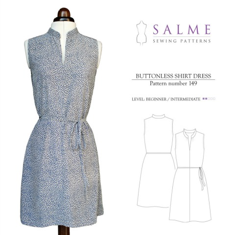 Indie Inspiration: The Salme Buttonless Shirt Dress   The Monthly Stitch