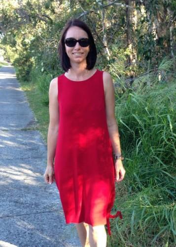Red Kielo Wrap dress - Sew Independent
