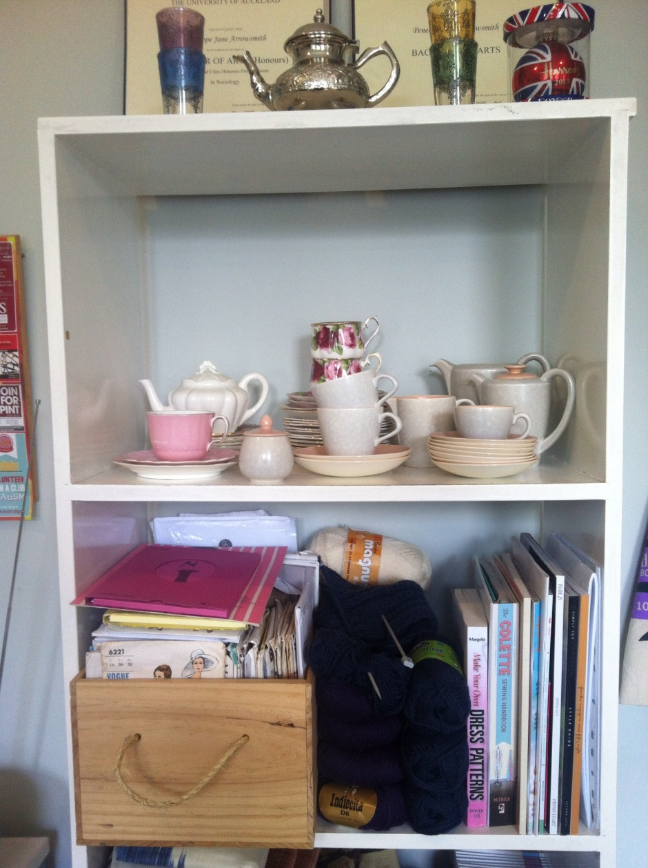 Teacups and sewing books - a great combination!