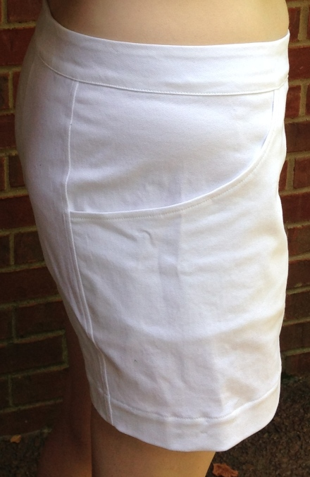 white pocket shorts