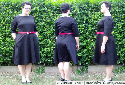 SimpleFibreLife - Black Bridesmaid Dress