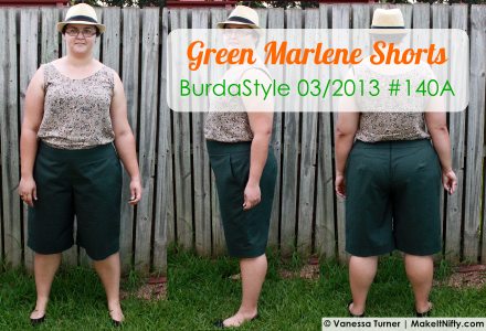 Green BurdaStyle Marlene Trousers-Make It Nifty-Front,Side,Back