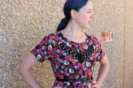 Hummingbirds and Clover dress by Modern Vintage Cupcakes