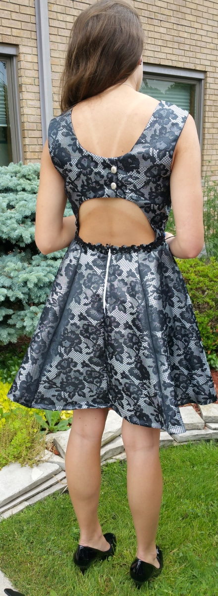 Back of My Fit and Flare Dress
