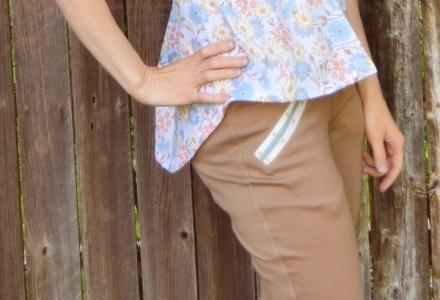 2c80559c15af9 Marigold Peplum and Jalie Yoga Pants