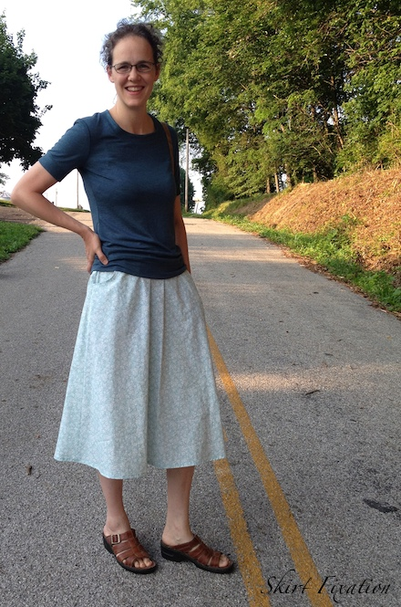 Skirt Fixation's entry to The Monthly Stitch