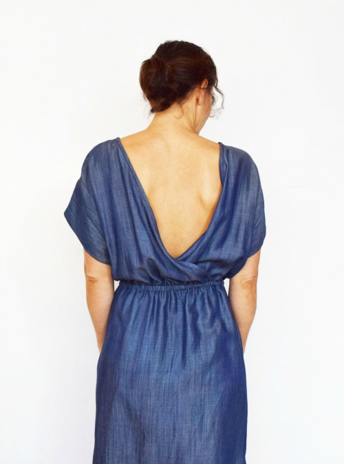 Bridgetown Backless denim tencel