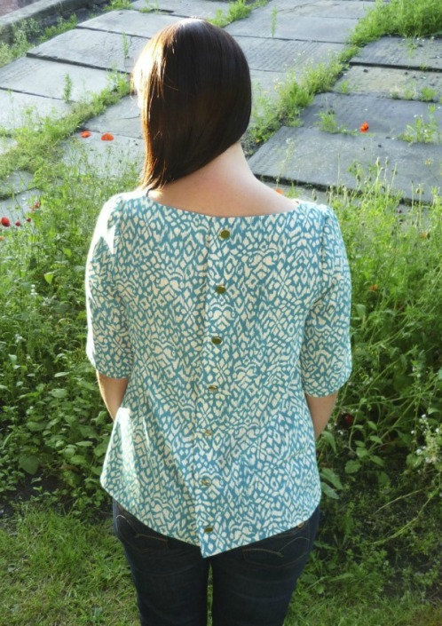 Mathilde blouse on the Minerva Sewing Network