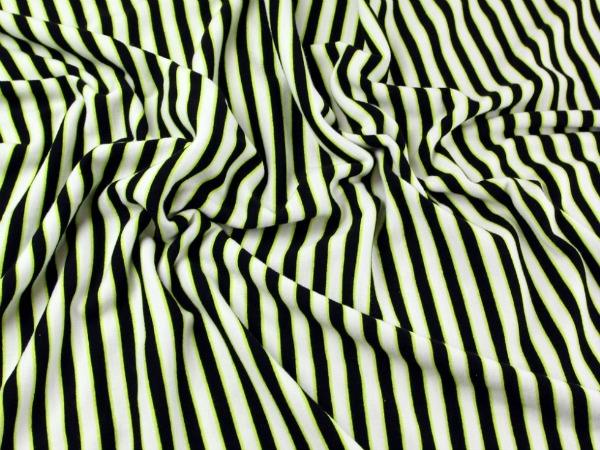 Striped Ponte Roma fabric from Minerva Crafts