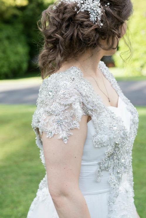 Detail of Vickis wedding dress