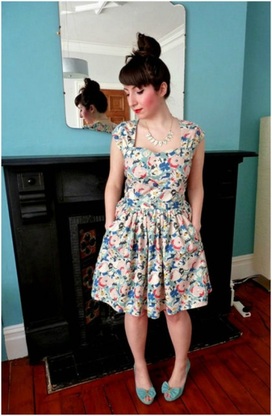 Cambie dress on the Minerva Sewing Network