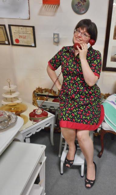 Melanie's Cheery Cherry shirtdress