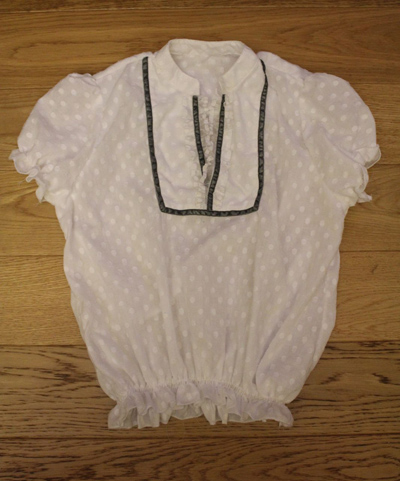 White Cotton Dobby Blouse