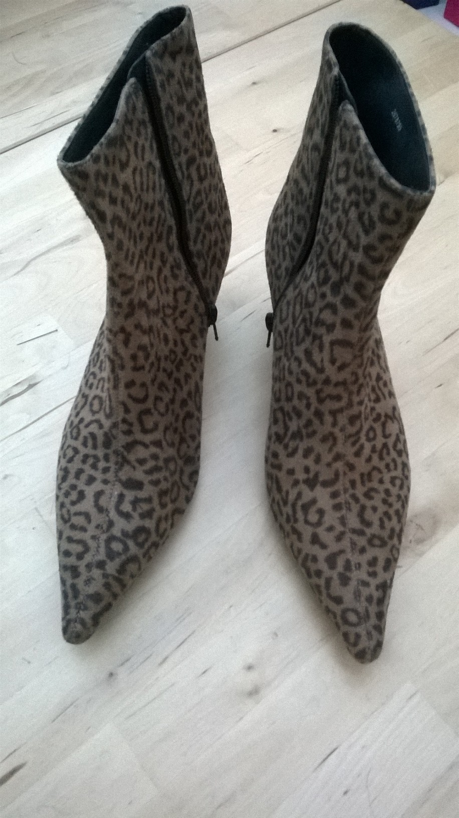 My leopard print ankle boots