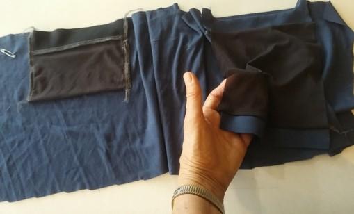 Pocket construction inside waistband