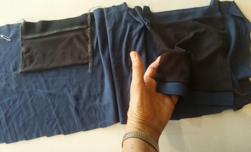Pocket construction inside waistband