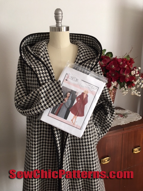 sew chic noelle coat with pattern